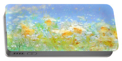 Spring Meadow Abstract Portable Battery Charger