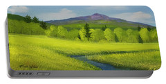Portable Battery Charger featuring the painting Spring Meadow Brook by Frank Wilson