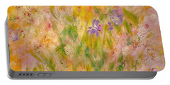 Portable Battery Charger featuring the painting Spring Meadow by Claire Bull