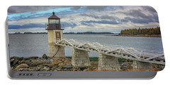 Portable Battery Charger featuring the photograph Spring Morning At Marshall Point by Rick Berk