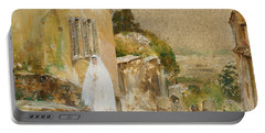 Spring Morning At Montmartre Portable Battery Charger