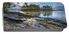 Portable Battery Charger featuring the photograph Spring Morning At Wolfe's Neck Woods by Rick Berk
