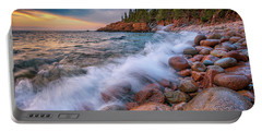 Spring Morning In Acadia National Park Portable Battery Charger by Rick Berk