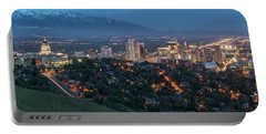 Spring Night In Salt Lake City Portable Battery Charger