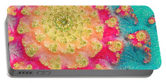 Portable Battery Charger featuring the digital art Spring On Parade 2 by Bonnie Bruno