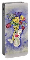 Spring Peek-a-boo I Love You Portable Battery Charger