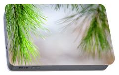 Portable Battery Charger featuring the photograph Spring Pine Abstract by Christina Rollo