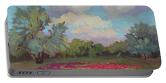 Portable Battery Charger featuring the painting Spring Poppies by Diane McClary