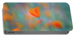 Spring Poppy Portable Battery Charger
