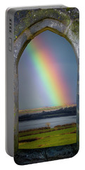 Portable Battery Charger featuring the photograph Spring Rainbow Over Ireland's Shannon Estuary by James Truett