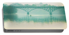 Portable Battery Charger featuring the photograph Spring - Rowing Under The Strawberry Mansion Bridge by Bill Cannon