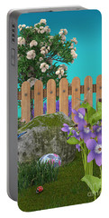 Portable Battery Charger featuring the digital art Spring Scene by Mary Machare