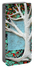 Portable Battery Charger featuring the painting Spring Serenade With Tree by Genevieve Esson