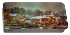 Spring Snow In Peterborough Nh Portable Battery Charger
