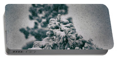 Spring Snowstorm On The Treetops Portable Battery Charger by Jason Coward