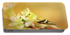 Spring Song Bird Portable Battery Charger by Darren Fisher