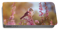 Portable Battery Charger featuring the photograph Spring Sparrow by Lynn Bauer