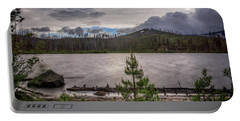 Portable Battery Charger featuring the photograph Spring Storm At Round Lake by Cat Connor