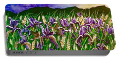 Spring Storm  Iris Fields Portable Battery Charger by Jennifer Lake
