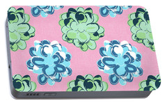 Spring Succulents- Art By Linda Woods Portable Battery Charger by Linda Woods