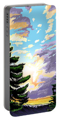 Spring Sunrise 01 Portable Battery Charger