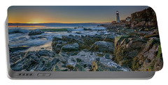 Portable Battery Charger featuring the photograph Spring Sunrise At Portland Head by Rick Berk