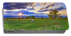 Spring Sunset Over The Rockies Portable Battery Charger