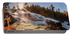 Spring Sunset Surge At Glen Alpine Falls Portable Battery Charger
