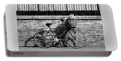 Portable Battery Charger featuring the photograph Spring Sunshine And Shadows In Black And White by Gill Billington