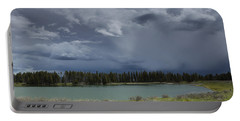 Spring Thunderstorm At Yellowstone Portable Battery Charger