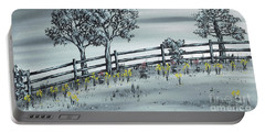 Portable Battery Charger featuring the painting Spring Time by Kenneth Clarke