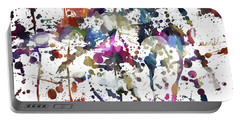 Portable Battery Charger featuring the digital art Spring Time Splat by Margie Chapman