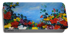 Portable Battery Charger featuring the painting Spring Time by Teresa Wegrzyn
