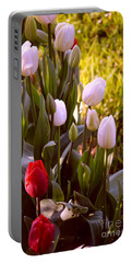 Portable Battery Charger featuring the photograph Spring Time Tulips by Susanne Van Hulst