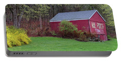 Portable Battery Charger featuring the photograph Spring Tobacco Barn by Bill Wakeley