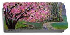 Spring Tree At New Pond Farm Portable Battery Charger