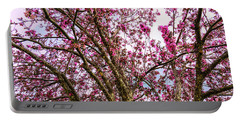 Portable Battery Charger featuring the photograph Spring Trees Pink Delight by James BO Insogna