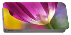 Portable Battery Charger featuring the photograph Spring Tulip by Rona Black