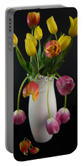 Spring Tulips In Vase Portable Battery Charger