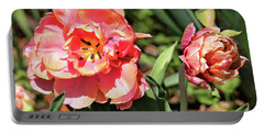 Spring Tulips Portable Battery Charger by Trina Ansel