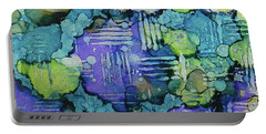 Portable Battery Charger featuring the painting Spring Weave Ink #4 by Sarajane Helm