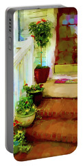Portable Battery Charger featuring the digital art Spring Welcome by Gina Harrison