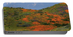 Spring Wildflower Display At Diamond Lake In California Portable Battery Charger