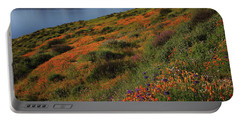 Spring Wildflower Season At Diamond Lake In California Portable Battery Charger
