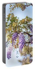 Portable Battery Charger featuring the photograph Spring Wisteria Bloom by Jenny Rainbow