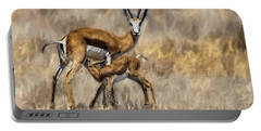 Springbok Mom And Calf Portable Battery Charger