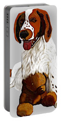 Springer Spaniel And Teddy Bear Portable Battery Charger