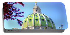Portable Battery Charger featuring the photograph Spring's Arrival At The Pennsylvania Capitol by Shelley Neff