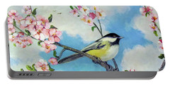 Portable Battery Charger featuring the painting Spring's Promise by Donna Tucker