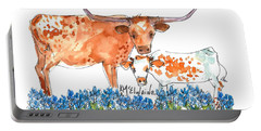 Springs Surprise Watercolor Painting By Kmcelwaine Portable Battery Charger by Kathleen McElwaine